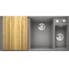 Évier BLANCO AXIA III 6 S alu métallisé bac à droite 423464 avec planche à découper en bois-thumb-1