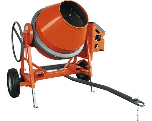 Bétonnière à cuve basculante Lescha AT 420 bétonnière 230 V avec châssis routier et attelage pour camion