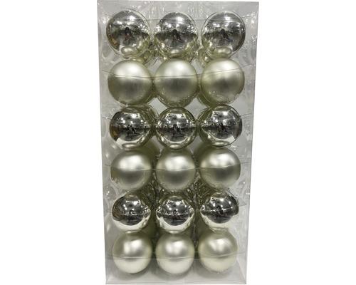 Boules de Noël Lafiora Ø6cm argent 54 pces