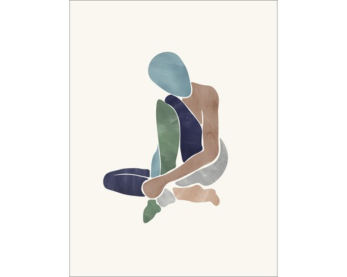 Panneau décoratif Sitting Woman II 30x40cm