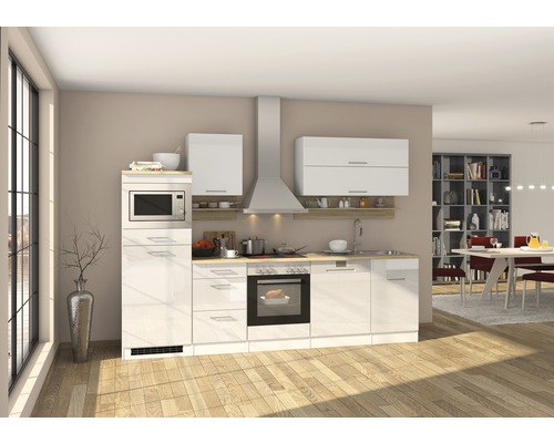 Cuisine complète Held Möbel Mailand 280 cm blanc à haute brillance équipée-0