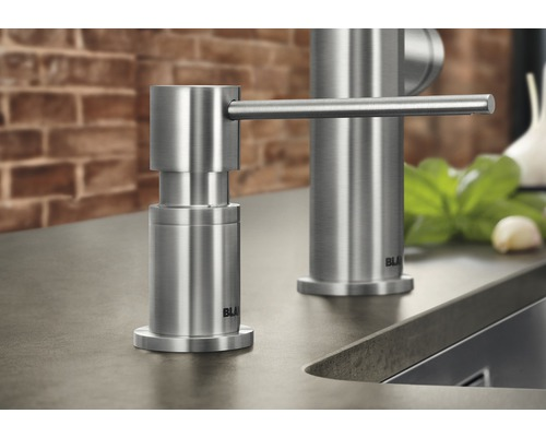 Distributeur de liquide vaisselle BLANCO Lato finition acier inoxydable 525809