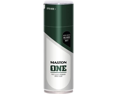 Peinture aérosol Maston ONE mat RAL 6005 Moss Green 400 ml