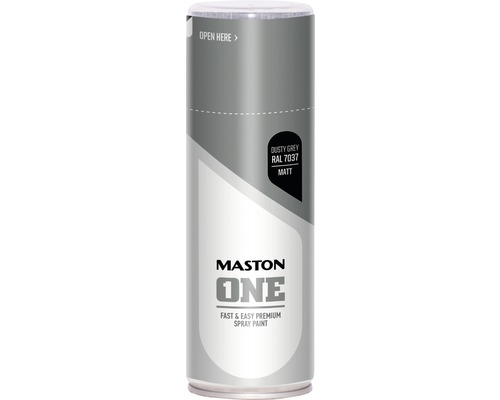 Peinture aérosol Maston ONE - mat RAL 7037 Dusty Grey 400 ml