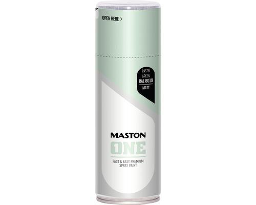 Peinture aérosol Maston ONE - mat RAL 6019 Pastel Green 400 ml