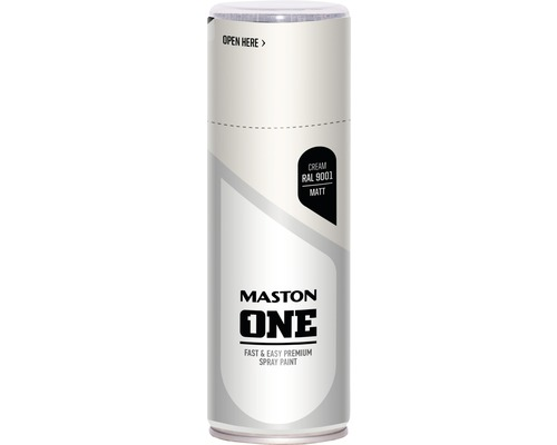 Peinture aérosol Maston ONE - mat RAL 9001 blanc crème 400 ml