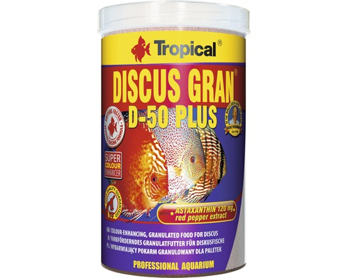 Nourriture granulée Tropical Discus Gran D-50 Plus 1 l