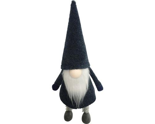 Déco gnome h 27cm bleu