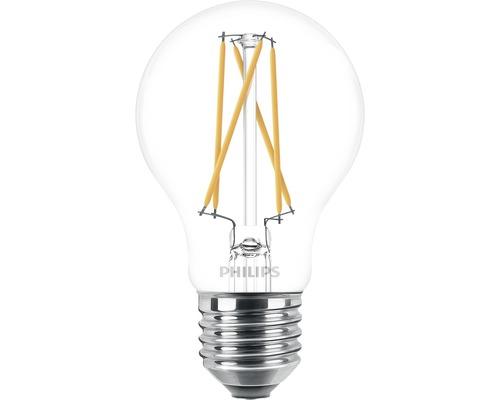 Ampoule LED à intensité lumineuse variable A60 transparent E27/5W(40W) 470 lm 2200 K + 2700 K blanc chaud