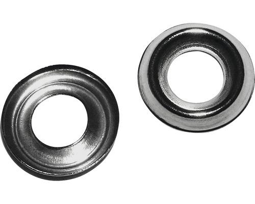 Rondelle de décoration 5x11 mm laiton nickelé, 50 unités-0