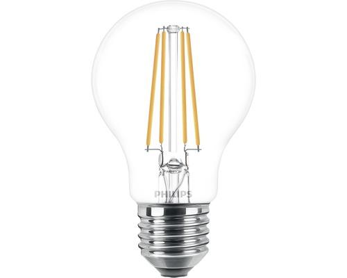 Ampoule LED A60 transparente E27/7W(60W) 806 lm 2700 K blanc chaud