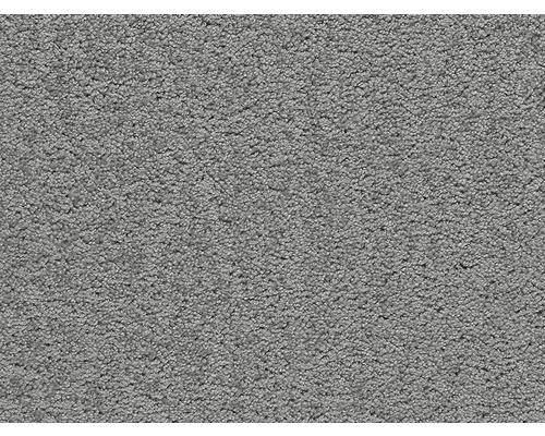 Moquette Saxony E-touch gris largeur 400 cm (au mètre)