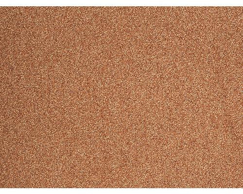 Moquette frisée Evolve orange largeur 400 cm (au mètre)