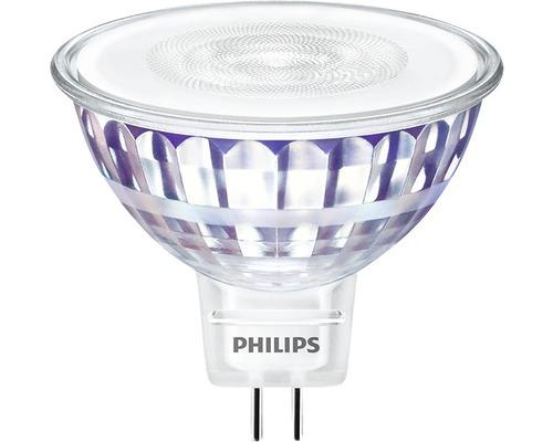 Ampoule LED à réflecteur MR16 transparent GU5.3/7W(50W) 621 lm 2700 K blanc chaud 12V