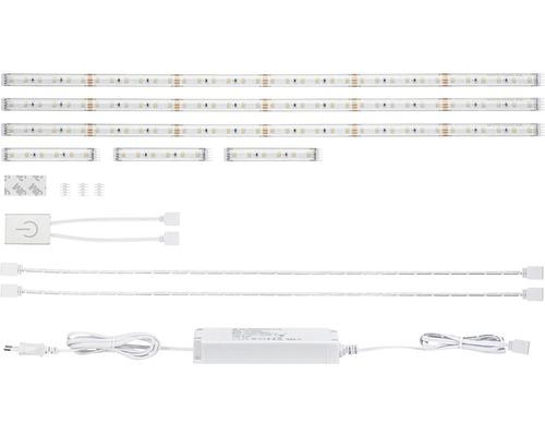 Kit Strip Comfort Function MaxLED prêt à l''emploi 500 Kitchen 3x60 cm 3x4W 3x310 lm 2700 K blanc chaud 3x72 capteur LEDs Touch 24V extensible, convient au Smart Home après extension