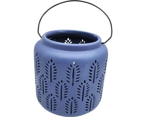 Lanterne H18,5cm bleu