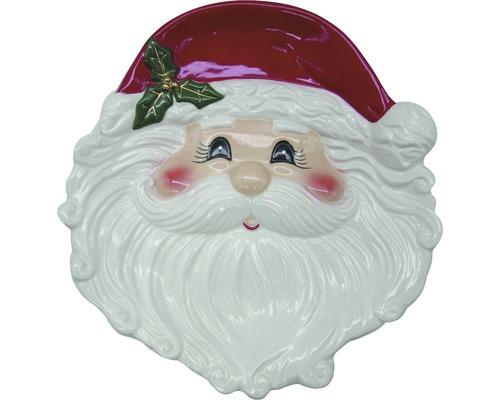 Assiette Père Noël 24,5 x 23,5 cm