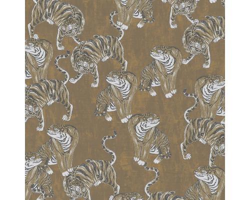 Papier peint intissé 84867 Memento Tigre marron