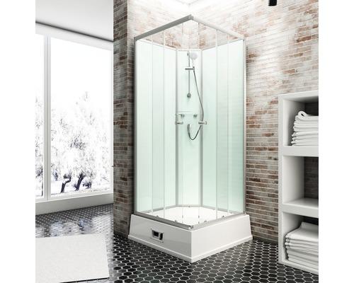 Cabine bien-être Schulte Korfu II avec chauffe-eau et pompe 94 x 110 cm vert clair D193406 0150-0