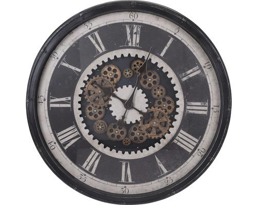 Horloge murale noire Ø 76,5 cm