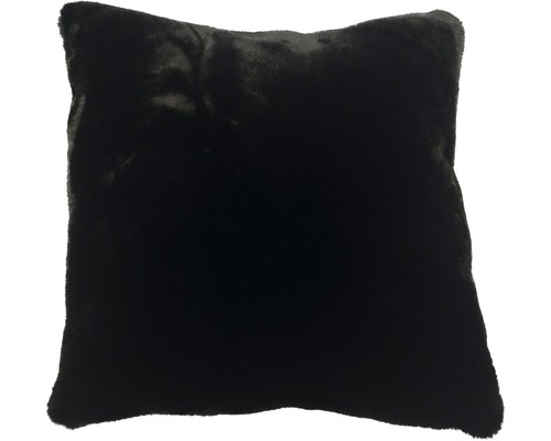 Dekokissen Fell Romance 45x45 cm schwarz