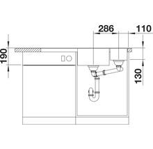 Évier BLANCO AXIA III 6 S alu métallisé bac à droite 423464 avec planche à découper en bois-thumb-3