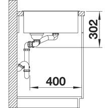 Évier BLANCO AXIA III 6 S alu métallisé bac à droite 423464 avec planche à découper en bois-thumb-5