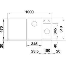 Évier BLANCO AXIA III 6 S alu métallisé bac à droite 423464 avec planche à découper en bois-thumb-6