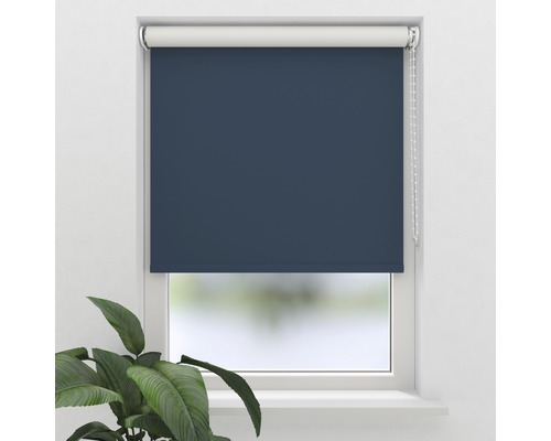 Store occultant Soluna V12, bleu foncé, 40x190 cm
