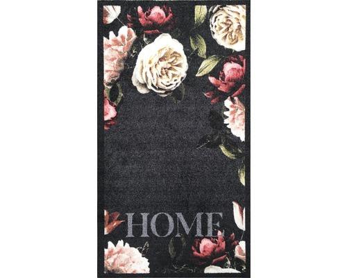 Tapis de couloir rose vif Roses anthracite 66x120 cm-0