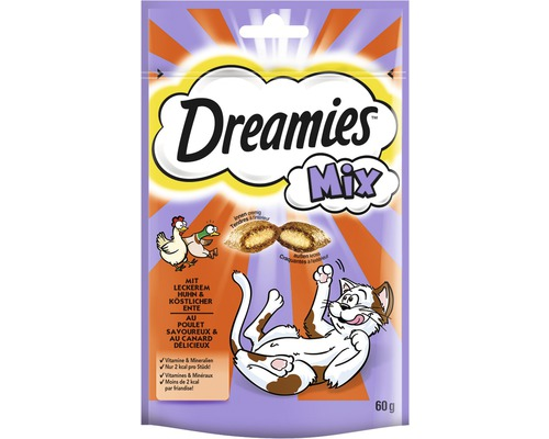 Dreamies Mix à la volaille et au canard 60 g