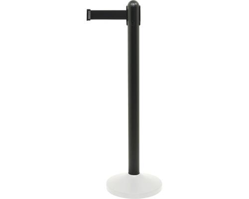 Poteau de guidage acier inoxydable noir avec bande en nylon noir 210 cm (sans pied)