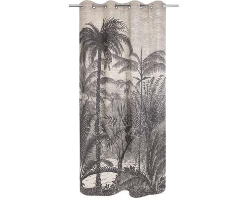 Rideau à œillets Palm beige 140x245 cm