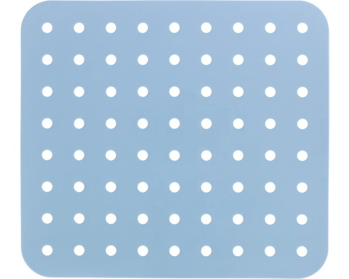 Tapis d''évier Wenko Kristall rectangulaire, bleu