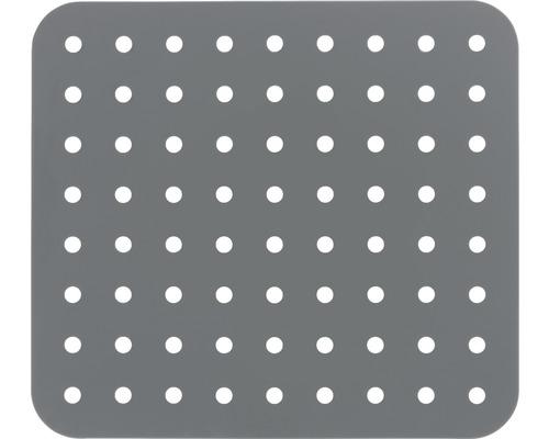 Tapis d''évier Wenko Kristall rectangulaire, gris