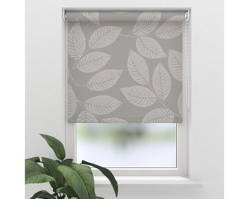 Store tamisant Soluna D10 feuilles beige 60x190 cm