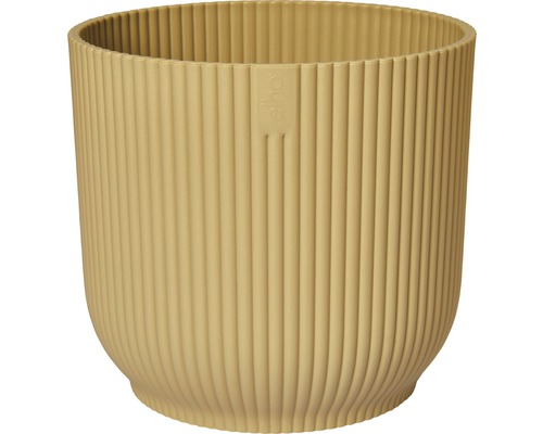 Cache-pot Elho Vibes fold 18 cm jaune beurre-0