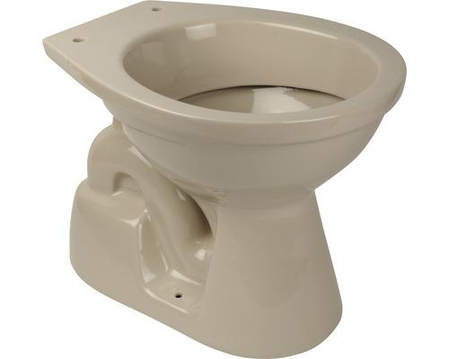 Tiefspül-WC Abgang innen senkrecht beige stehend