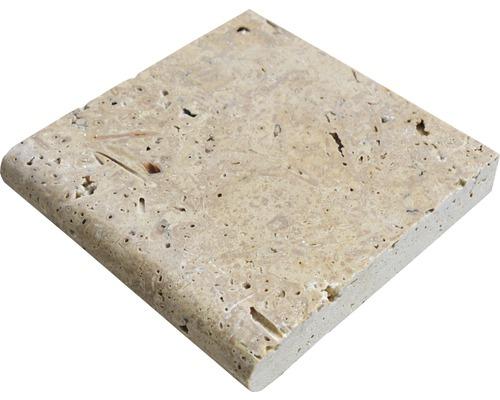 Échantillon de dalle de terrasse en grès cérame fin Flairstone Livorno bord marron