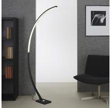 Lampadaire forme arceau LED à intensité lumineuse variable 18W 1950 lm 3000 K blanc chaud PIN noir h 1650 mm 1 ampoule-thumb-0
