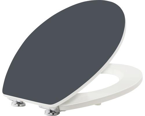 WC-Sitz form & style Color Edge grau matt mit Absenkautomatik