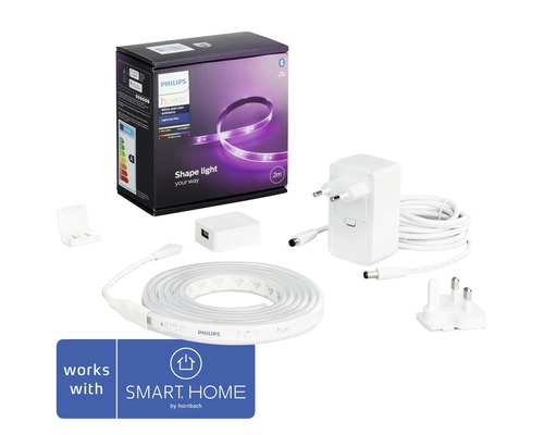 Philips hue LED Band Lightstrip Plus Basis RGBW 20W 1600 lm 2 m - Kompatibel mit all SMART HOME by hornbach