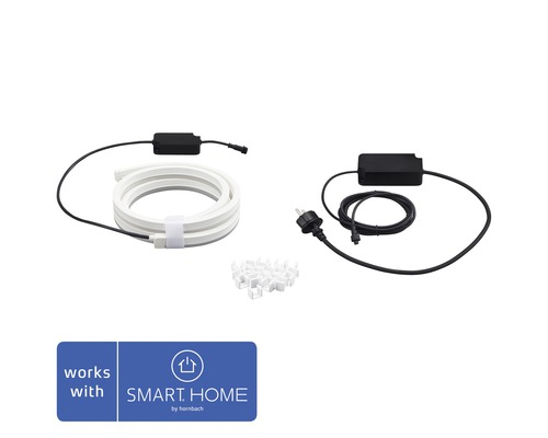 Ruban LED Philips hue Lightstrip Outdoor IP67 RGBW 19W 780 lm 2 m compatible avec SMART HOME by hornbach