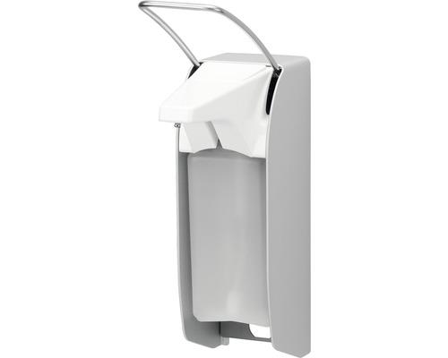 Distributeur de savon et désinfectant AIR-WOLF Omikron acier inoxydable blanc