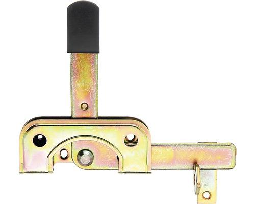 Verrou de portillon pour poteaux en bois étroits 195x160 mm galvanisé, jaune zingué
