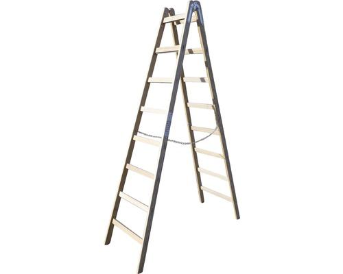 Echelle double en bois Riedel, 2x8 niveaux