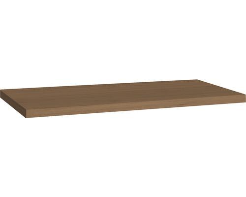 Plan de toilette Allibert Sorento chêne aspect Cognac 46,2 cm x 2,8 cm 80,2 cm