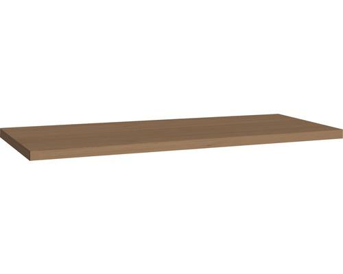 Plan de toilette Allibert Sorento chêne aspect Cognac 46,2 cm x 2,8 cm 100,2 cm
