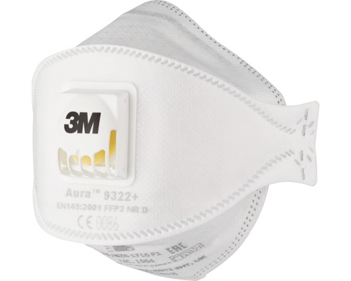 Masque de protection respiratoire 3M™ 9322PRO, 5 pièces, classe de protection FFP2