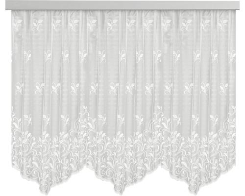 Jacquard Blumenfenster-Store weiß 145x300 cm